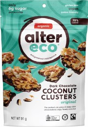 Dark Chocolate Coconut Clusters Original 91gm