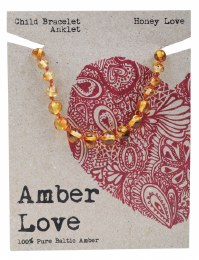 Children's Bracelet/Anklet Baltic Amber - Honey Love 14cm