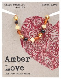 Children's Bracelet/Anklet Baltic Amber - Mixed Love 14cm