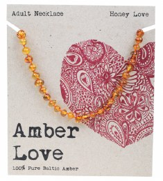 Adult's Necklace Baltic Amber - Honey Love 46cm