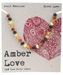 Adult's Necklace Baltic Amber - Mixed Love 46cm