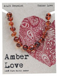 Adult's Bracelet Baltic Amber - Cognac Love 20cm