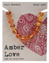 Adult's Bracelet Baltic Amber - Honey Love 20cm