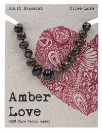 Adult's Bracelet Baltic Amber - Olive Love 20cm