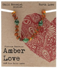 Children's Bracelet/Anklet Baltic Amber - Earth Love 14cm