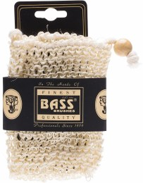 Sisal Soap Holder Pouch With Drawstring, Firm Single Pack