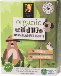 Organic Wildlife Biscuits Individually Wrapped - Banana 10 x 10gm