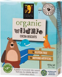 Organic Wildlife Biscuits Individually Wrapped - Cocoa 10 x 10gm