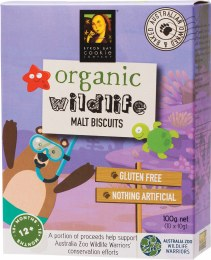 Organic Wildlife Biscuits Individually Wrapped - Malt 10 x 10gm