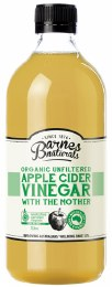 Apple Cider Vinegar Organic & Unfiltered 1L