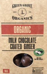 Milk Chocolate Ginger 180gm