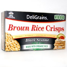 Rice Crisps Black Sesame 100gm