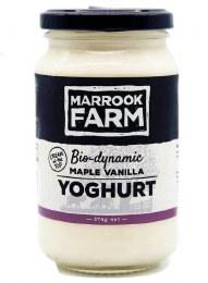 Yoghurt Maple Vanilla Glass Jar 375gm