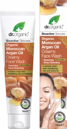 Creamy Face Wash Organic Moroccan Argan Oil 150ml