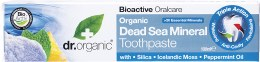 Toothpaste Organic Dead Sea Mineral 100ml