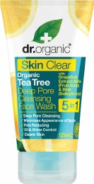 Deep Pore Cleansing Face Wash Skin Clear - Organic Tea Tree 125ml