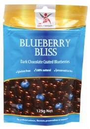 Blueberry Bliss Dark Chocolate Blueberries 125gm