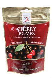 Cherry Bombs Dark Chocolate Tart Cherries 125gm