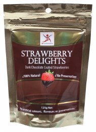 Strawberry Delights Dark Chocolate Strawberries 125gm