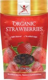 Organic Strawberries Dried Strawberries 125gm
