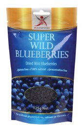 Super Wild Blueberries Dried Wild Blueberries 125gm
