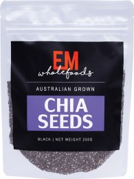 Black Chia Seeds Australian Grown 250gm