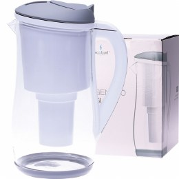 Gentoo Glass Water Filter Jug Grey & White