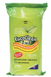 Anti-bacterial Wipes 2-in-1 Disinfect/Clean 60