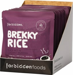 Brekky Rice Black Rice & Coconut Pudding 10 x 125gm Packets