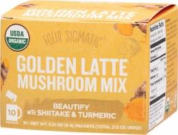 Mushroom Golden Latte Mix Packets With Shiitake & Turmeric
