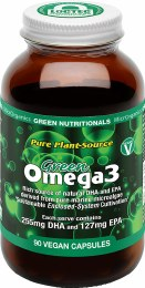 Green Omega3 Vegan Capsules (127mg) - Amber Glass