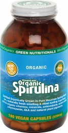Mountain Organic Spirulina Capsules (520mg) - Amber Glass