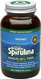 Mountain Organic Spirulina Tablets (500mg) - Amber Glass