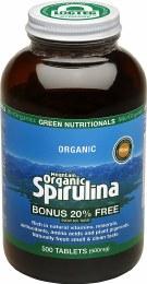Mountain Organic Spirulina Tablets (500mg) - Amber Glass