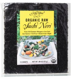 Sushi Nori Organic Raw (10 Sheets) 25gm
