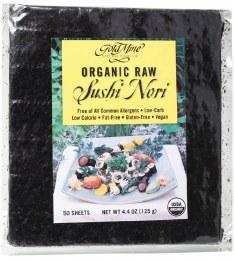 Sushi Nori Organic Raw (50 Sheets) 125gm