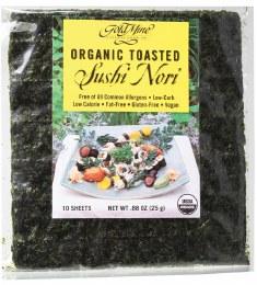 Sushi Nori Organic Toasted (10 Sheets) 25gm