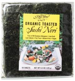 Sushi Nori Organic Toasted (50 Sheets) 125gm
