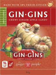 Gin Gins Ginger Candy Chewy - Spicy Apple 84gm