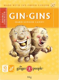 Gin Gins Ginger Candy Hard - Double Strength 84gm