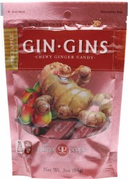 Gin Gins Ginger Candy Bag Chewy - Spicy Apple 84gm