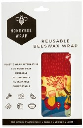 Reusable Beeswax Wrap Kitchen Starter Pack - Sm Med & Lg