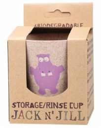 Storage/Rinse Cup Hippo (Biodegradable Cup) 1