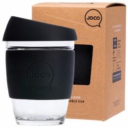 Reusable Glass Cup Regular 12oz - Black
