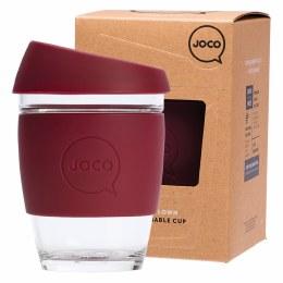 Reusable Glass Cup Regular 12oz - Ruby Wine