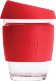 Reusable Glass Cup Regular 12oz - Red
