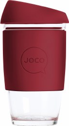 Reusable Glass Cup Extra Small 6oz - Ruby Wine