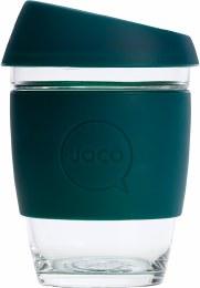 Reusable Glass Cup Regular 12oz - Deep Teal