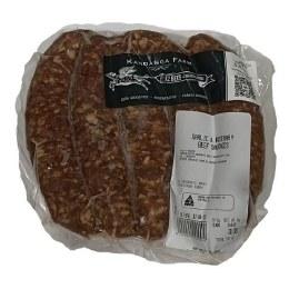 Beef Sausages Garlic & Rosemary 600gm