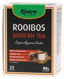 Rooibos African Organically Grown Rooibos 32 Tea Bags 80gm